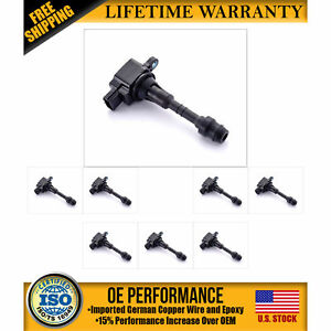 Ignition Coil 8pcs 22448 7s015 Uf510 For Nissan Infinity Qx56 5 6l V8
