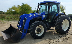 2009 New Holland Td5050 Utility Tractor 95 Hp W 820tl Loader Cab heat ac