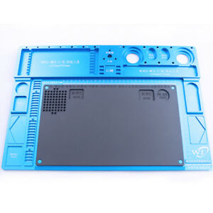 Phone Repair Maintenance Platform Aluminum Alloy Mat With Silica Insulation Pad