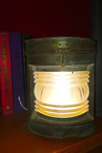 Vintage Stern Nautical Lamp Working Condition Wired To Be Plugged In