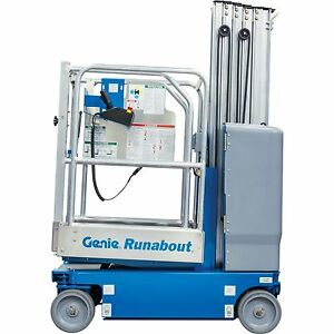 New Genie Gr 20 Runabout Vertical Mast Lift W extension authorized Dealer