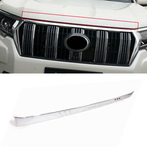 Front Engine Bonnet Cover Strip Trim Abs Chrome For Toyota Lc Prado Fj150 2018