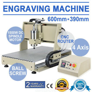 4 Axis 6040 1500w Cnc Router Engraver Engraving Drilling Milling Cutter Machine