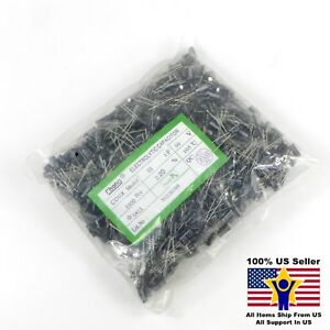1000pcs 33uf 50v 5x11mm Radial Electrolytic Capacitors Us Seller Cap0066 1000