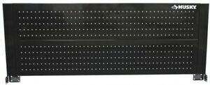 52 In Pegboard Back Wall Tool Cabinet Black Storage Garage Organization