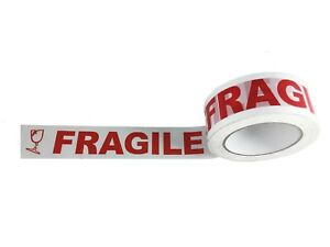 2 Fragile Packaging Tape 110 Yards 2 Mil Carton Box Sealing 36 Rolls case