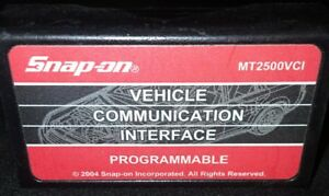2003 Snap On Programmable Vehicle Communication Interface Cartridge Mt2500vci