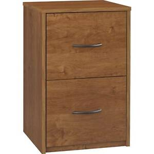 File Cabinet 2 Drawer Home Office Furniture Filing Storage Wood Bank Brown New