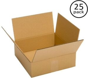 Moving Box Bundle Plain Brown Box 100 Recycled 10 In X 10 In X 6 In 25 Pack