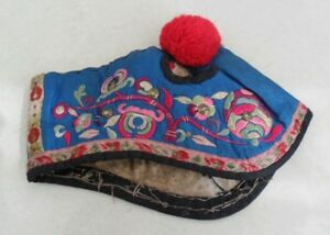 Chinese Minority People S Old Hand Embroidery Child Hat