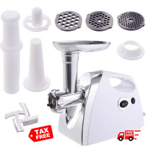 Electric Meat Grinder Sausage Stuffer 2800w Stainless Bratwurst Home Bucher
