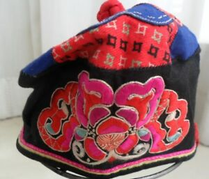 Chinese Miao People S Old Hand Embroidery Child Hat