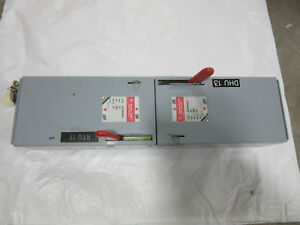 Ge Ads36060hd Fusible Switch Unit 3p 60a 600v Vgc With Free Shipping