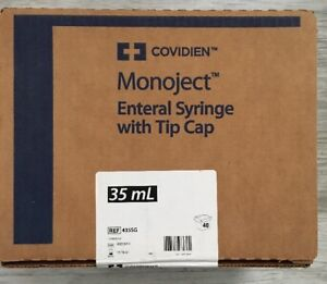 Monoject Enteral Syringe With Tip Cap 35ml Box Of 40 435sg