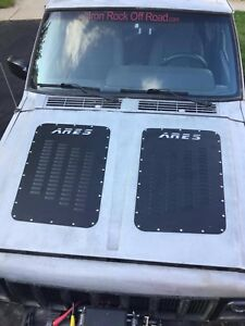 Ares Fabrication Jeep Xj Mj Cherokee Comanche Aluminum Hood Louvers