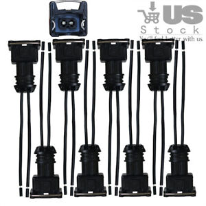 8 X Fuel Injector Connector Wiring Plugs Clips Fit Ev1 Obd1 Pigtail Cut