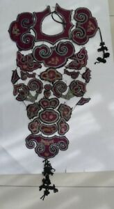 Old Chinese Hand Embroidery Costume Collar Shawl