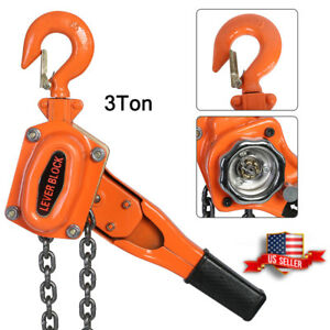3ton 6600lbs Lever Block Hoist Chain Ratchet Come Along Chain Hoist Us Stock