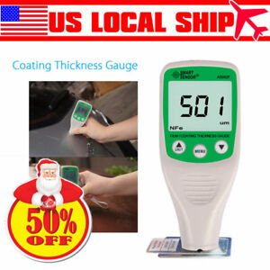 Smart Paint Film Coating Thickness Gauge Meter Tester Measurement Lcd Display
