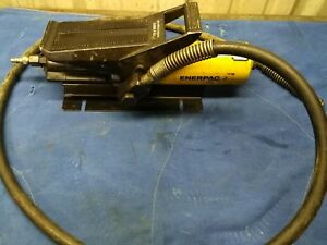 Enerpac Pa 136 Air Hydraulic Portable Power Pump 3000 Psi With Hose