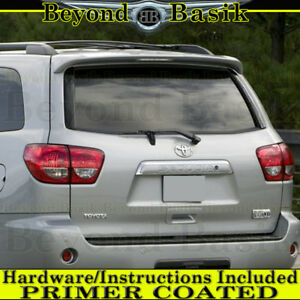For Toyota Sequoia 2008 2018 Factory Style Spoiler Roof Wing W led Light Primer