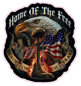 Home Of The Free Because Of The Brave 4 Decal Free Shipping