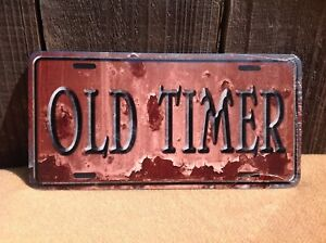 Old Timer Rusted Wholesale Novelty License Plate Bar Wall Decor