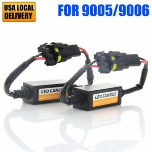 2pc 9005 9006 Car Led Light Canbus Error Free Anti Flicker Tail Stop Canceller