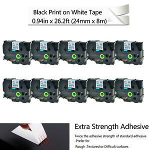 10 For Brother Tze s251 Extra Strength P touch Label Tape Tzes251 Tzs 251 Tzs251
