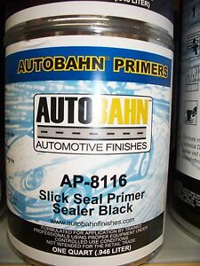 Black Slick Seal Primer Sealer Ready To Spray 1 Quart Auto Car Truck Paint Kit