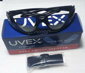 Lot Of 10 Uvex S0600x Seismic Clear Polycarbonate Anti fog Black Safety Glasses