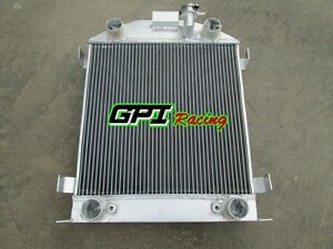 3 Row Aluminum Radiator For Ford Model A W Flathead Engine 1928 1929 28 29 At Mt