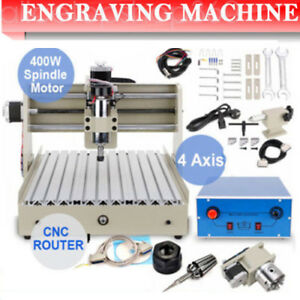 4 Axis 3040 Cnc Router Engraver Engraving Drilling Machine 400w Pcb Milling Wood