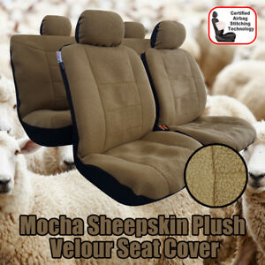 Sheepskin Plush Velour Black Charcoal Mocha Seat Covers For Toyota Trd 4runner
