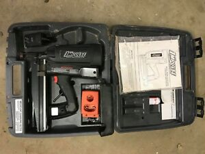 Pasolde Impulse Im 250 Cordless Finish Nailer W Fuel Cell New Battery Black