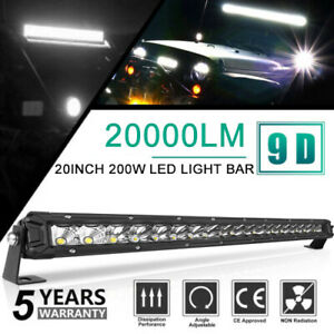 32 Inch Led Light Bar 1755w Spot Flood Truck Amber White Work Lamp Fog 30 29