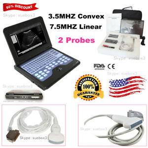 Us Seller Digital Ultrasound Scanner Laptop Machine With Convex linear 2 Probes