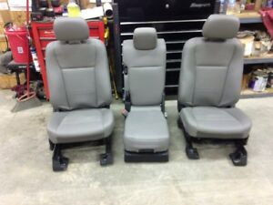 2017 Up Ford Super Duty F250 350 450 550 Front Seats Console New Grey Vinyl