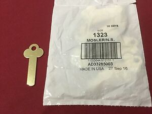 Ilco 1323 Key Blanks For Mosler Safety Deposit Box Locks Set Of 10 Locksmith