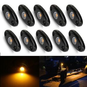 10x Yellow Cree Led Rock Light For Truck Jeep Atv Suv Trail Rig Bar Lamp