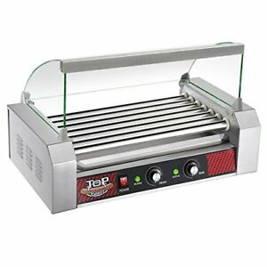 Great Northern Top Dawg Commercial 7 Roller Stainless Steel Hot Dog Machine With