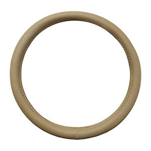 Pu Beige All Perforated Steering Wheel Cover Universal 14 5 15 5 By Cpr New
