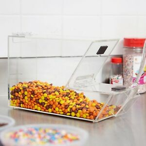 Ice Cream Topping Candy Clear Stackable Dispenser Soft Serve Machine Scoop