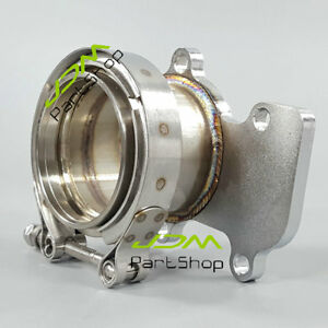 Downpipe Turbo Flange 3 0 V Band Kit For Cummins Holset Wh1c Hx35 Hx35w Hx40
