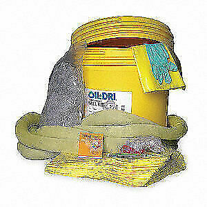 Oil dri Spill Kit Chem hazmat Yellow L90894 Yellow