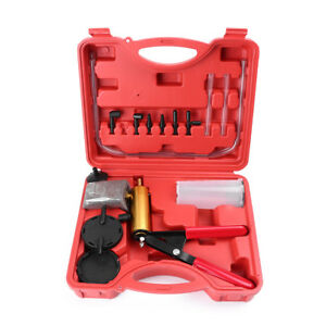 Car Hand Held Vacuum Pressure Pump Tester Set Brake Fluid Bleeder Bleeding Kit
