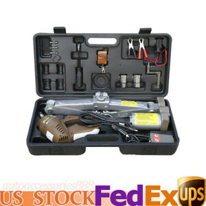 12v Car Automatic Electric Hydraulic 5t Jack Scissor Lifter Tire Repair Tool Kit