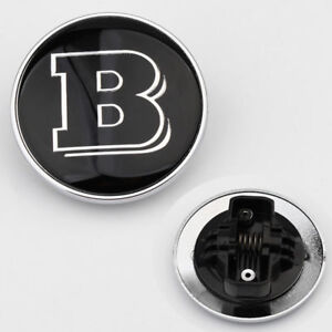 57mm Brabus Mercedes Benz Hood Emblems Free Shipping