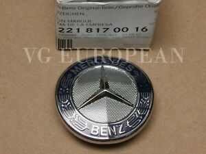 Mercedes Benz E S Class Genuine Mercedes Star Emblem Badge On Grille Shell New