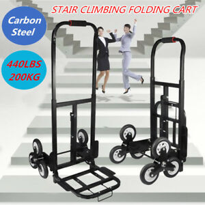 440lb Heavy Duty Climbing Stair Cart Hand Truck Dolly Warehouse Moving Trolley